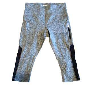 Forever 21 Grey/Black Capri Workout Leggings